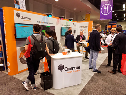 Photo of Quercus' stand at Intertraffic Amsterdam 2018