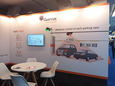 The Quercus Technologies stand at Intertraffic Amsterdam 2018