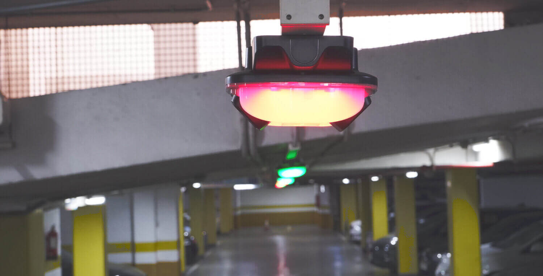 Image of Quercus Technologies' parking guidance sensors.