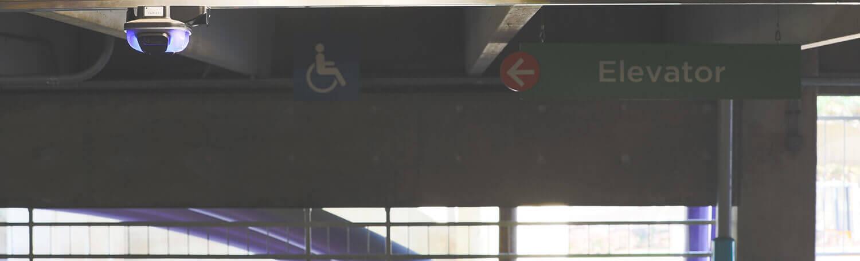 Image d'un système de guidage de parking par Quercus Technologies