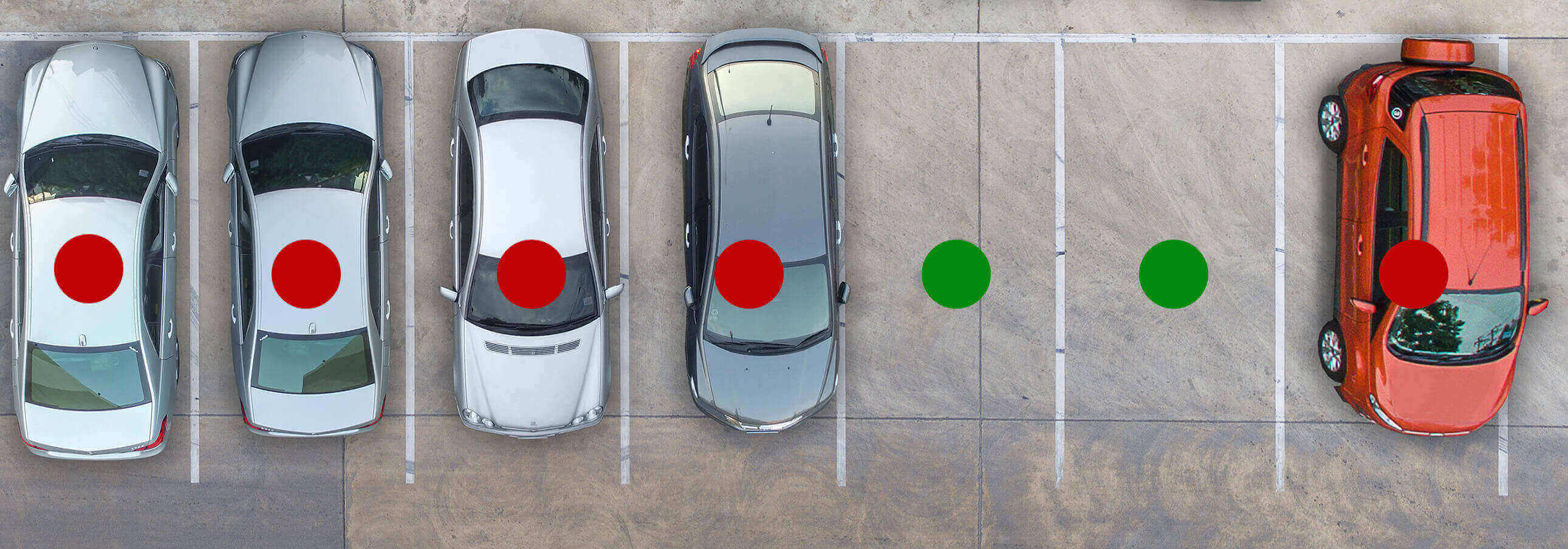 Image d'une solution de stationnement extérieur par Quercus Technologies