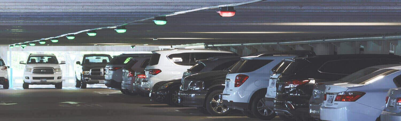 Imagem do sistema de orientação para estacionamentos