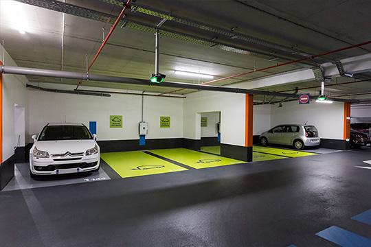 Foto del parking del Centro Comercial Olympie 2