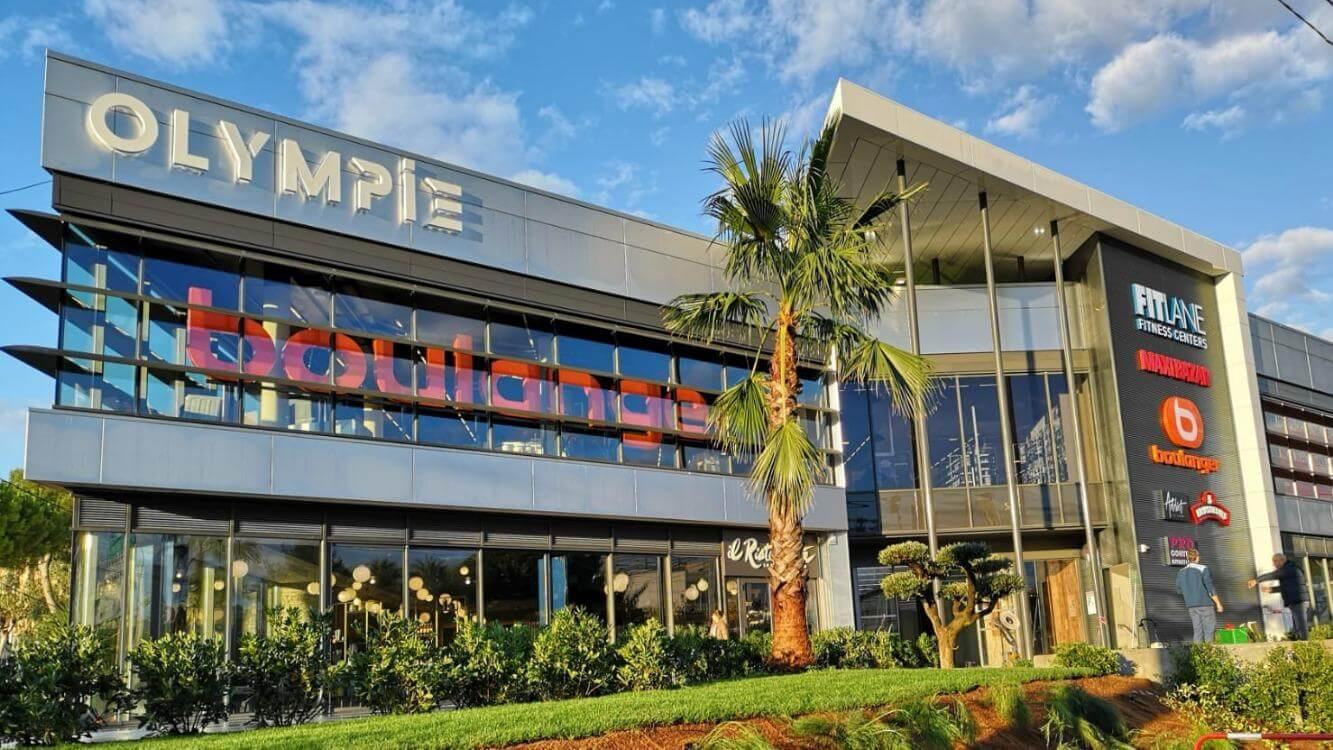 Photo de l'extérieur du centre commercial Olympie